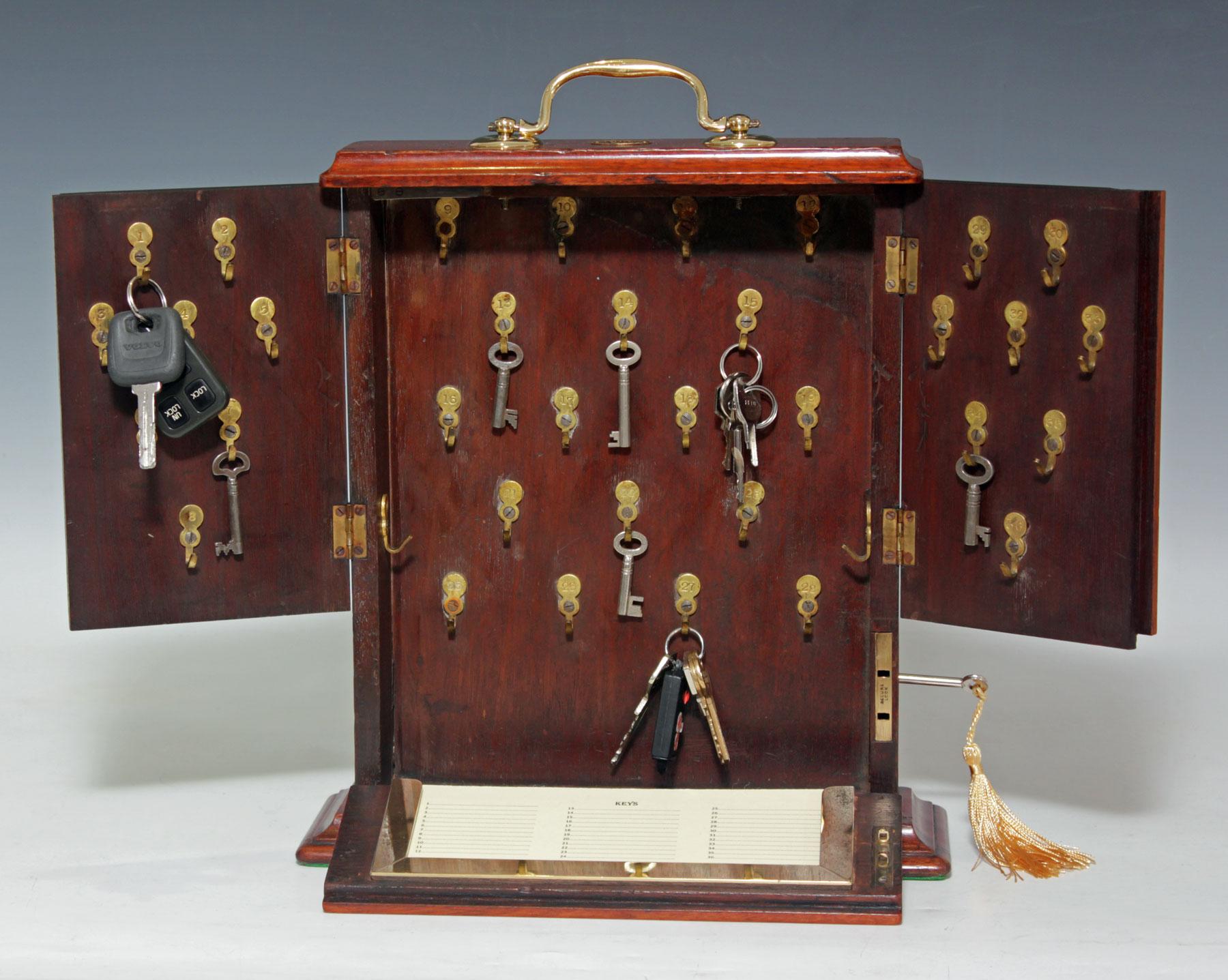 9000 Small Victorian Mahogany Desk Top Key Cabinet C 1880