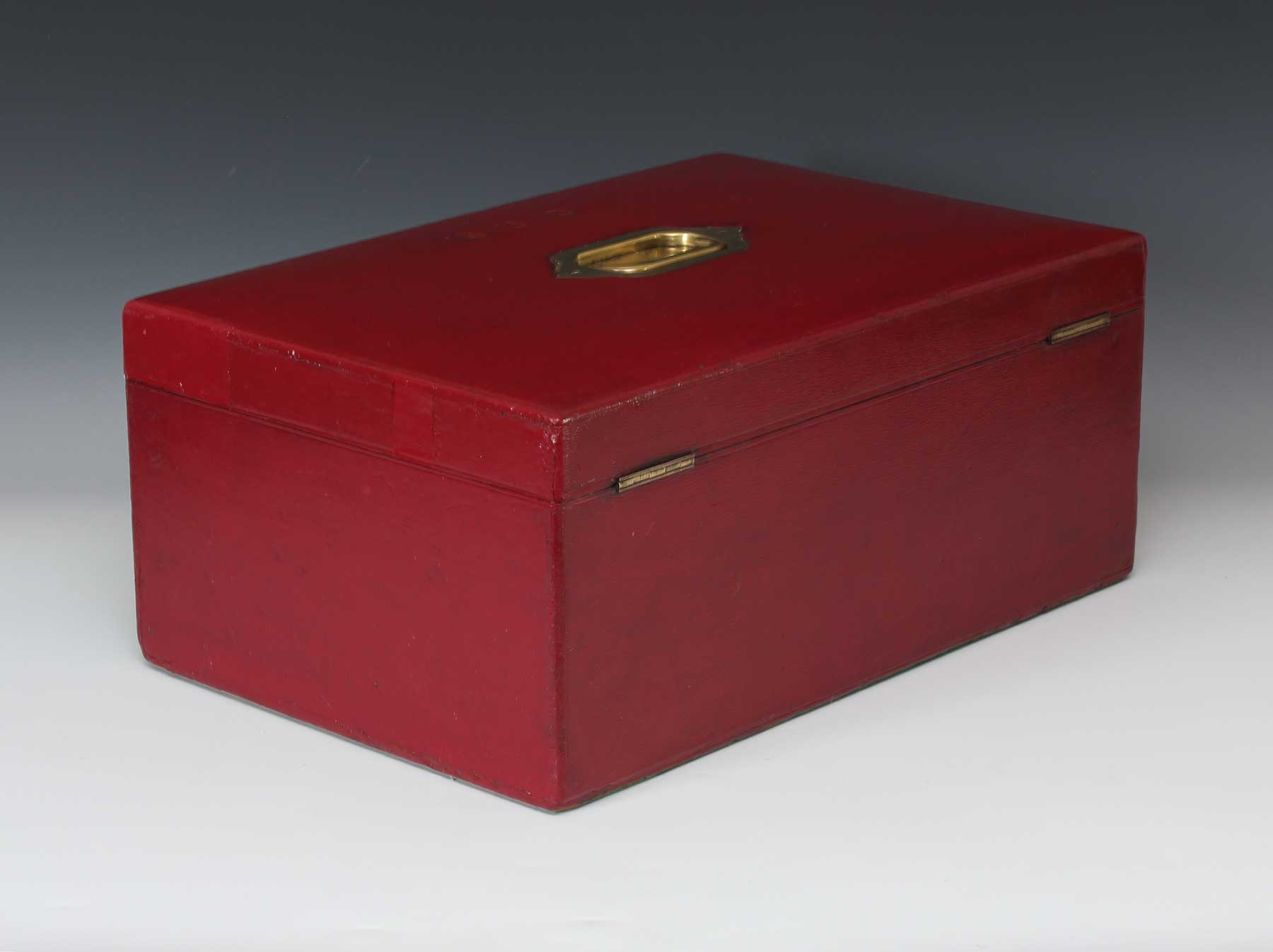 9315 a large victorian red leather bound governmental dispatch box c 1880  u2013 gerald mathias