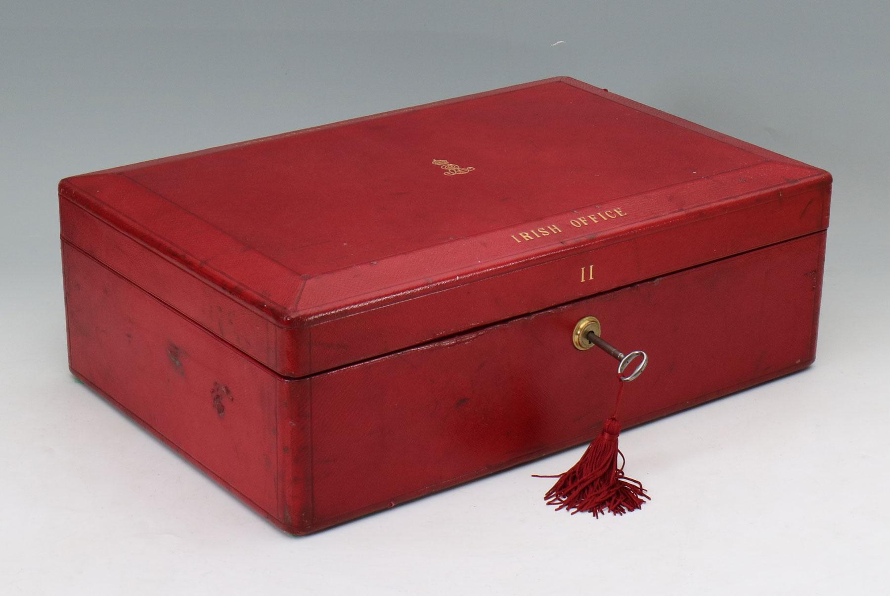 9499 An Edwardian Wickwar Red Leather Bound Parliamentary