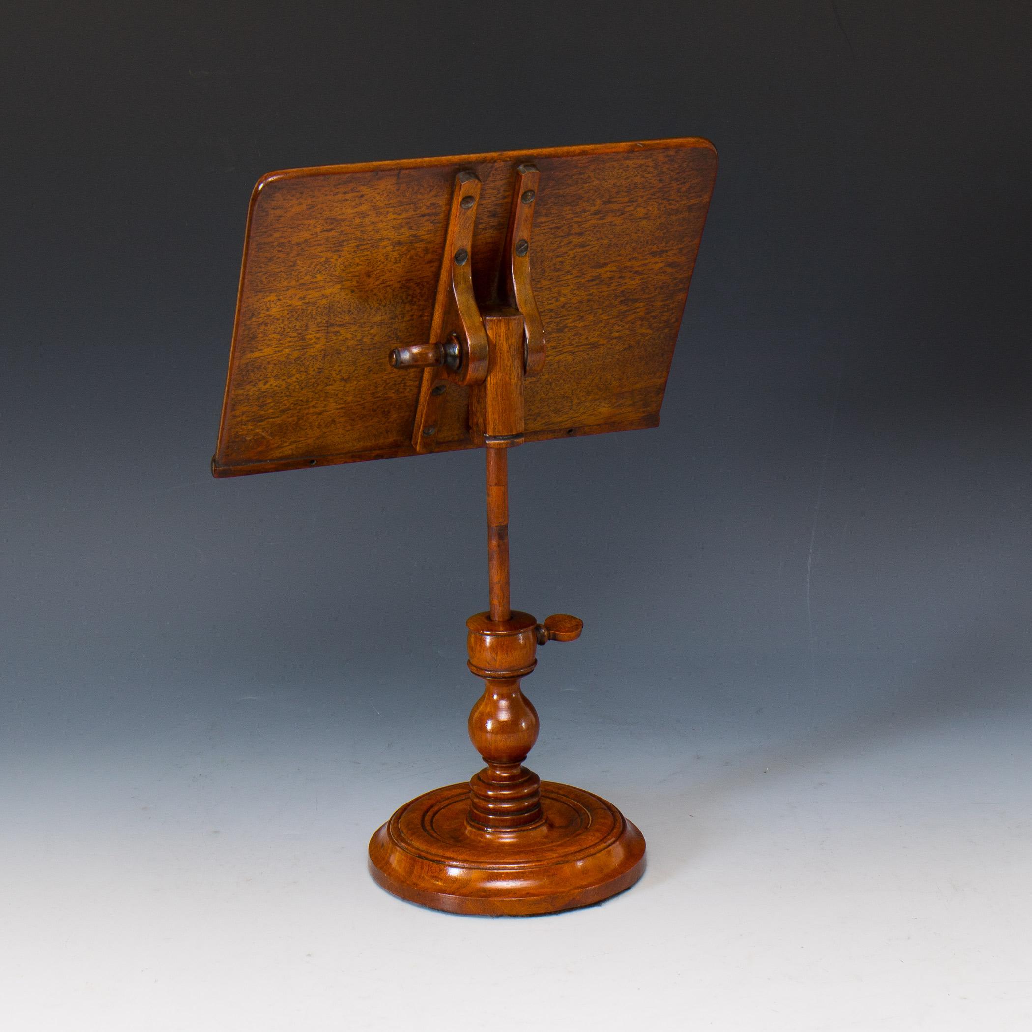 victorian mahogany pillar pedestal book rest reading stand c 1880