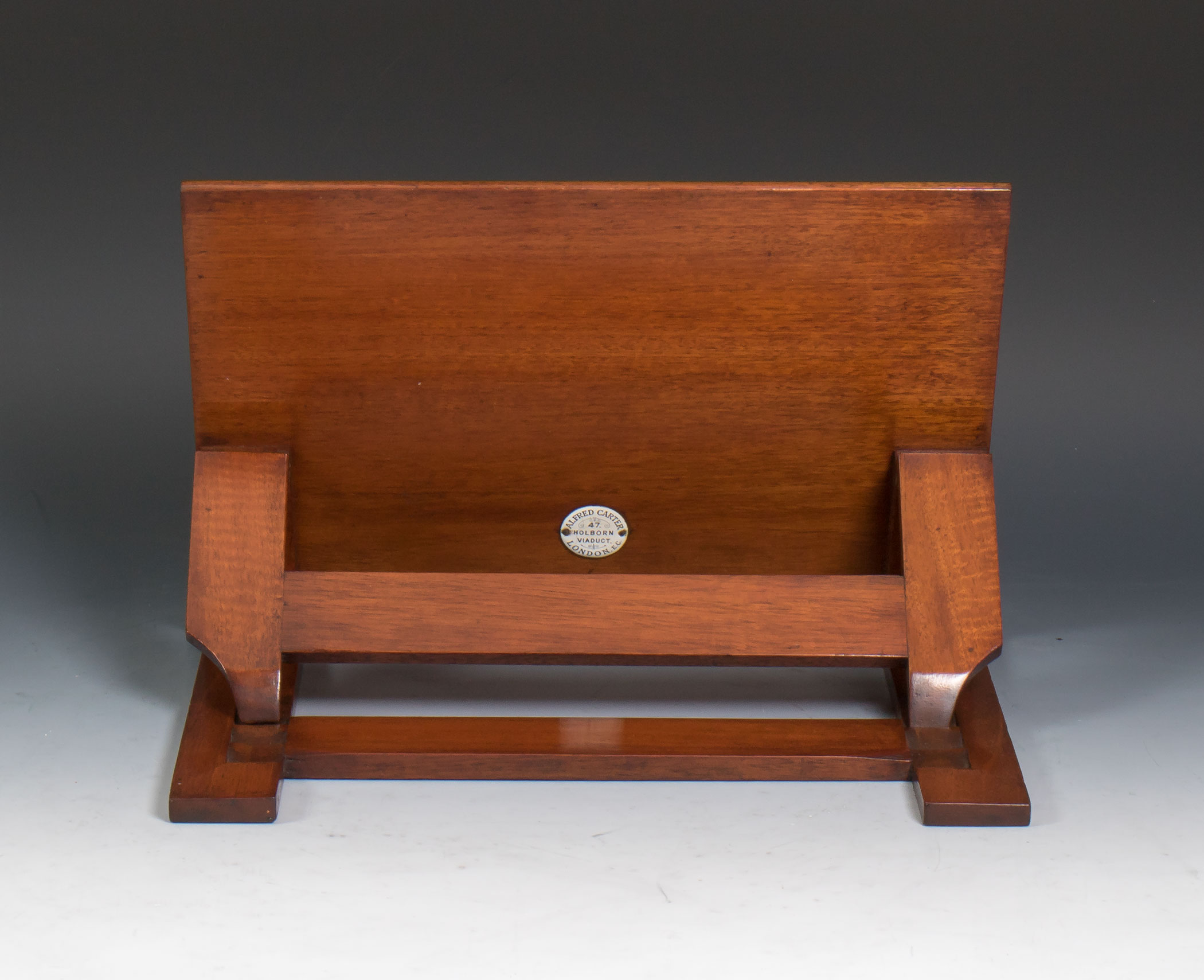 Exhibition Stand Items : S alfred carter solid mahogany book rest reading