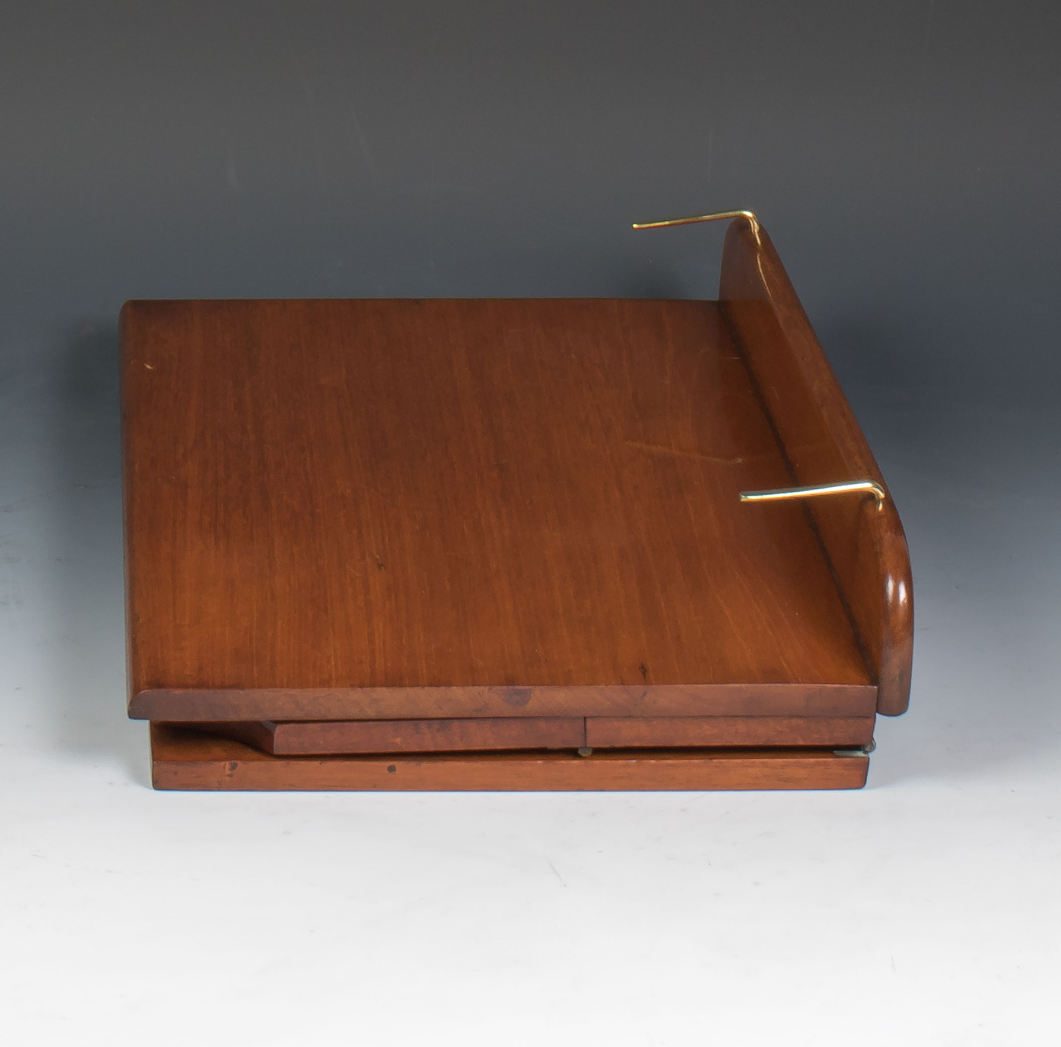 Exhibition Stand London : S alfred carter solid mahogany book rest reading