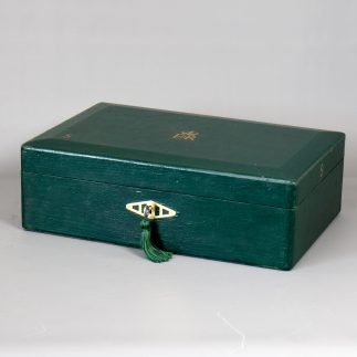 Elizabeth Ii Green Canvas Covered Government Despatch Box