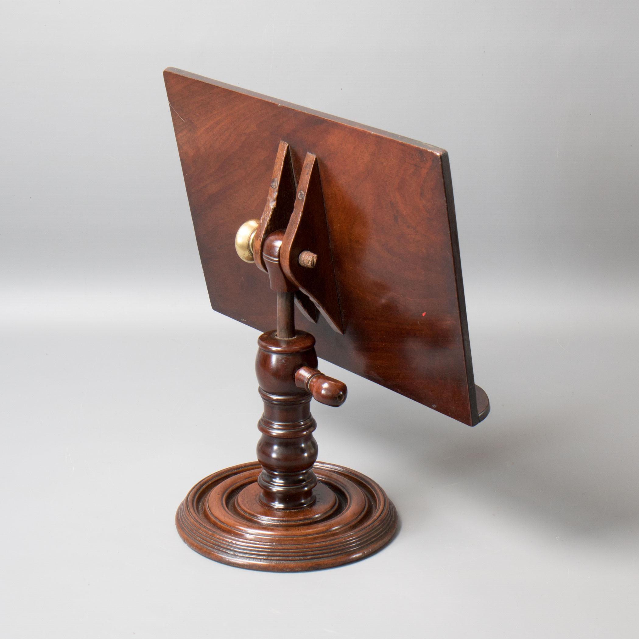 9794 a mid victorian mahogany pedestal book rest  reading